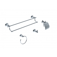Ancona Premium Chrome 4-pc. Bathroom Accessory Set